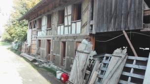 Fassadenaufbau Strohlem